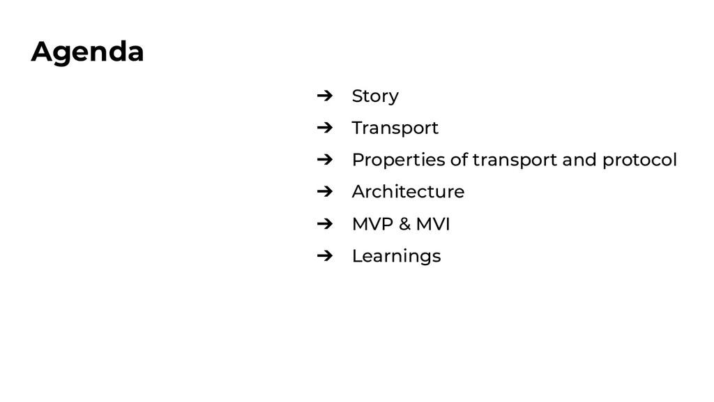 ➔ Story ➔ Transport ➔ Properties of transport a...