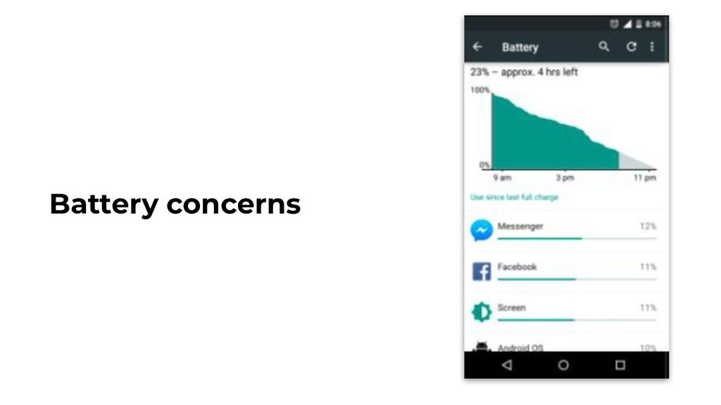 Battery concerns