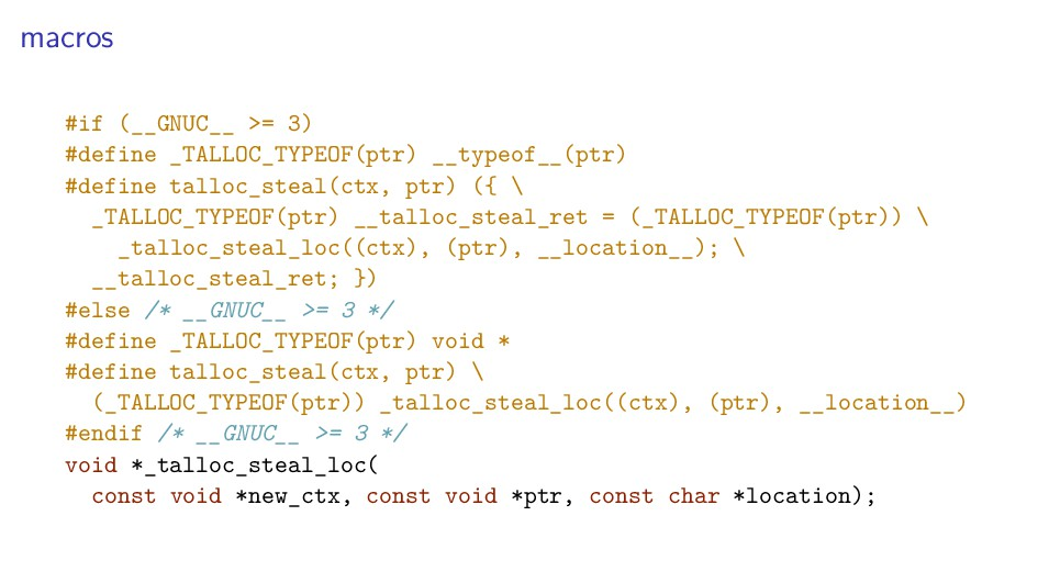 macros #if (__GNUC__ >= 3) #define _TALLOC_TYPE...