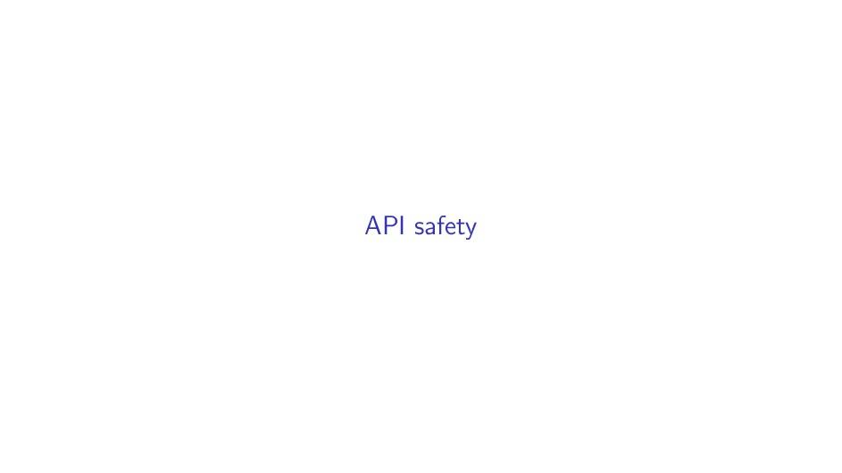 API safety