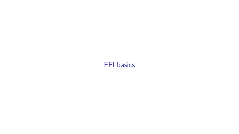 FFI basics