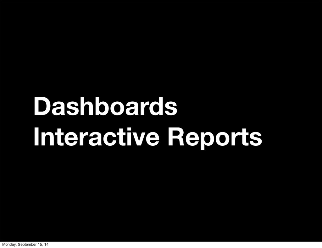 Dashboards Interactive Reports Monday, Septembe...