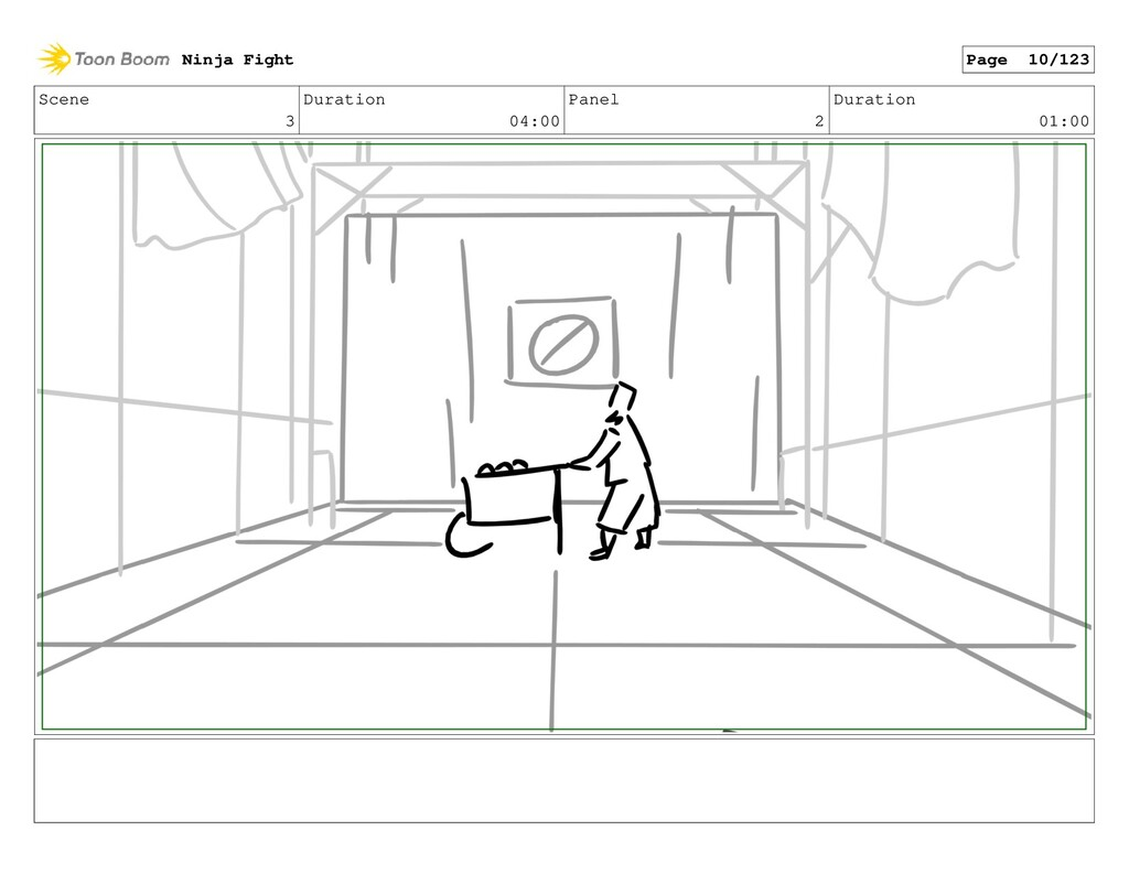 Scene 3 Duration 04:00 Panel 2 Duration 01:00 N...