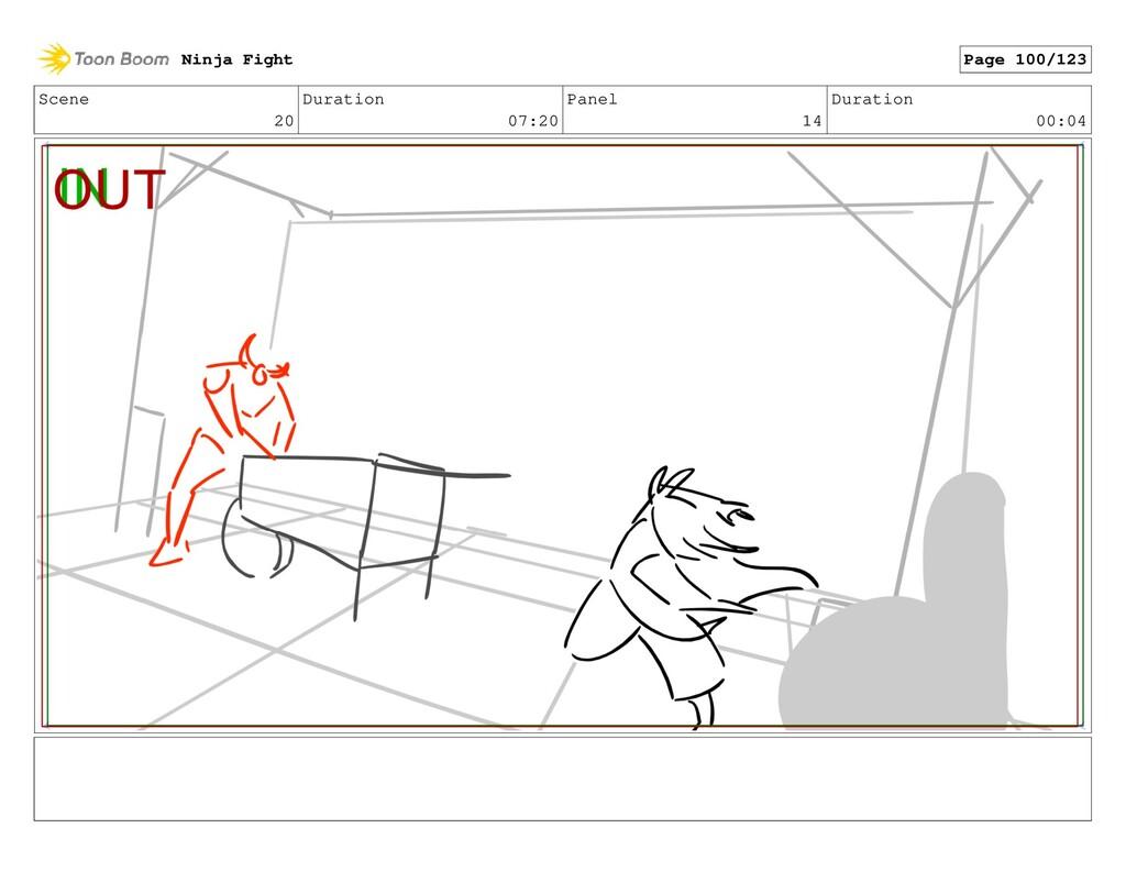 Scene 20 Duration 07:20 Panel 14 Duration 00:04...