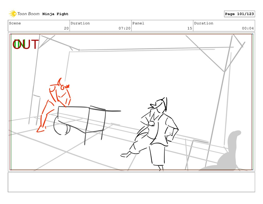 Scene 20 Duration 07:20 Panel 15 Duration 00:04...