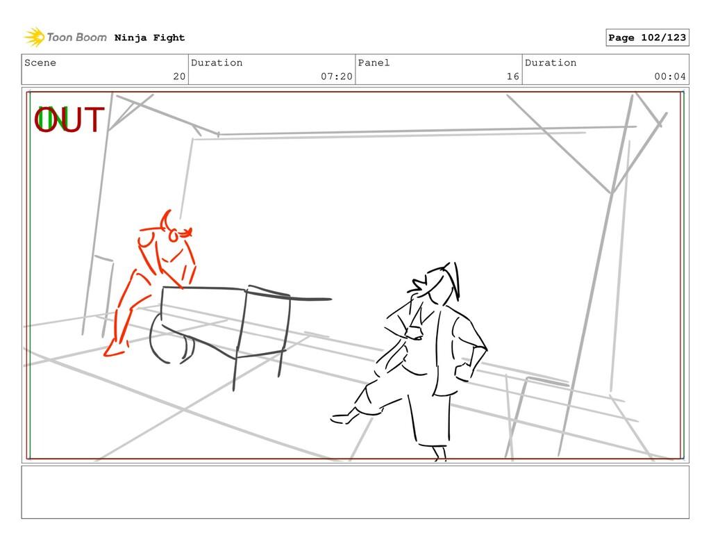 Scene 20 Duration 07:20 Panel 16 Duration 00:04...