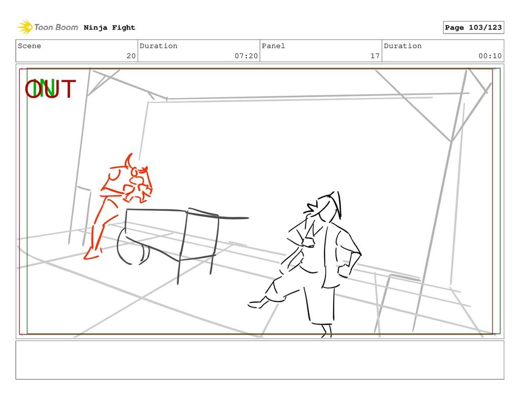 Scene 20 Duration 07:20 Panel 17 Duration 00:10...