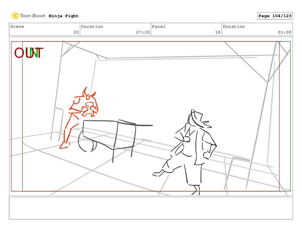 Scene 20 Duration 07:20 Panel 18 Duration 01:00...