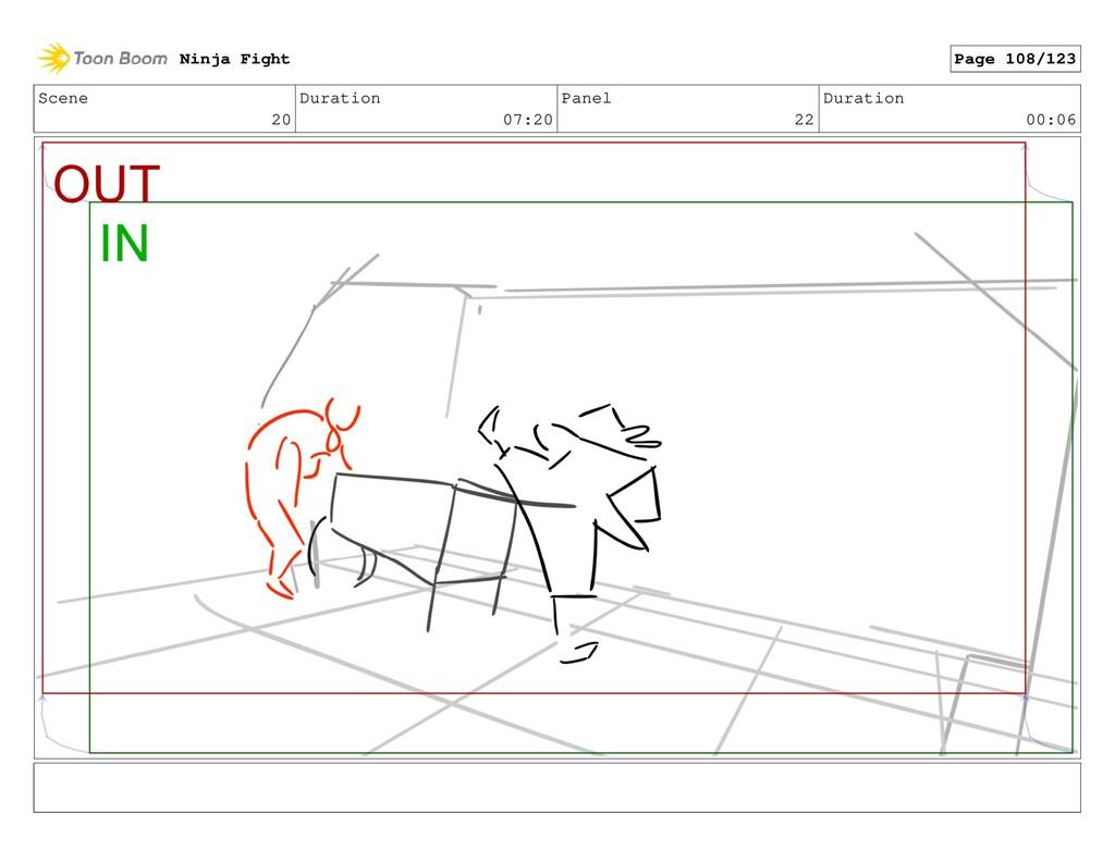 Scene 20 Duration 07:20 Panel 22 Duration 00:06...