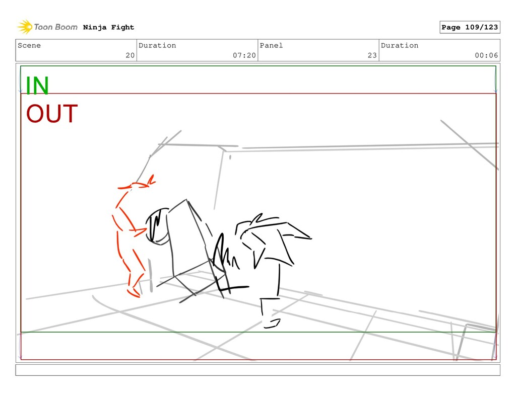 Scene 20 Duration 07:20 Panel 23 Duration 00:06...