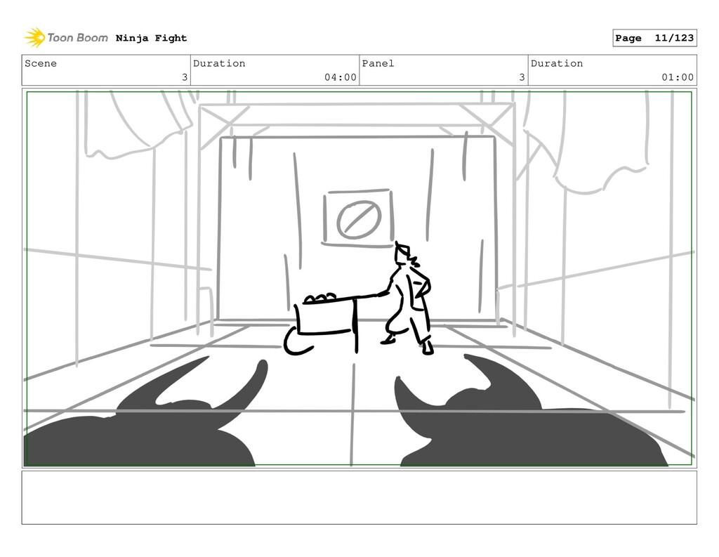 Scene 3 Duration 04:00 Panel 3 Duration 01:00 N...