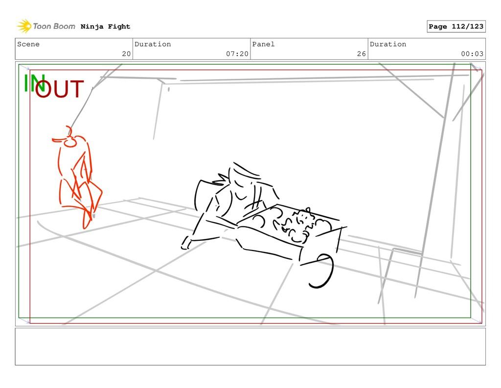 Scene 20 Duration 07:20 Panel 26 Duration 00:03...