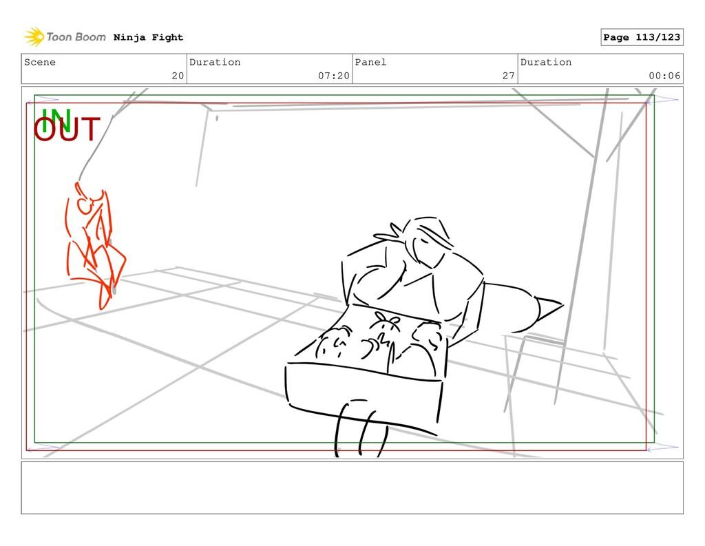 Scene 20 Duration 07:20 Panel 27 Duration 00:06...