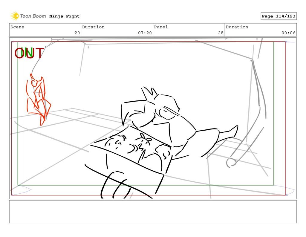 Scene 20 Duration 07:20 Panel 28 Duration 00:06...