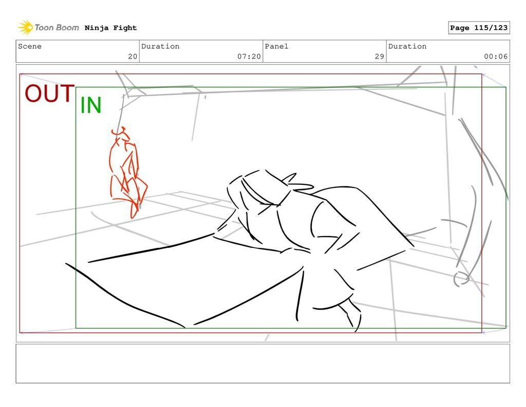 Scene 20 Duration 07:20 Panel 29 Duration 00:06...