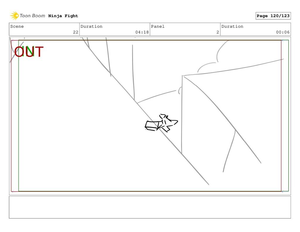 Scene 22 Duration 04:18 Panel 2 Duration 00:06 ...