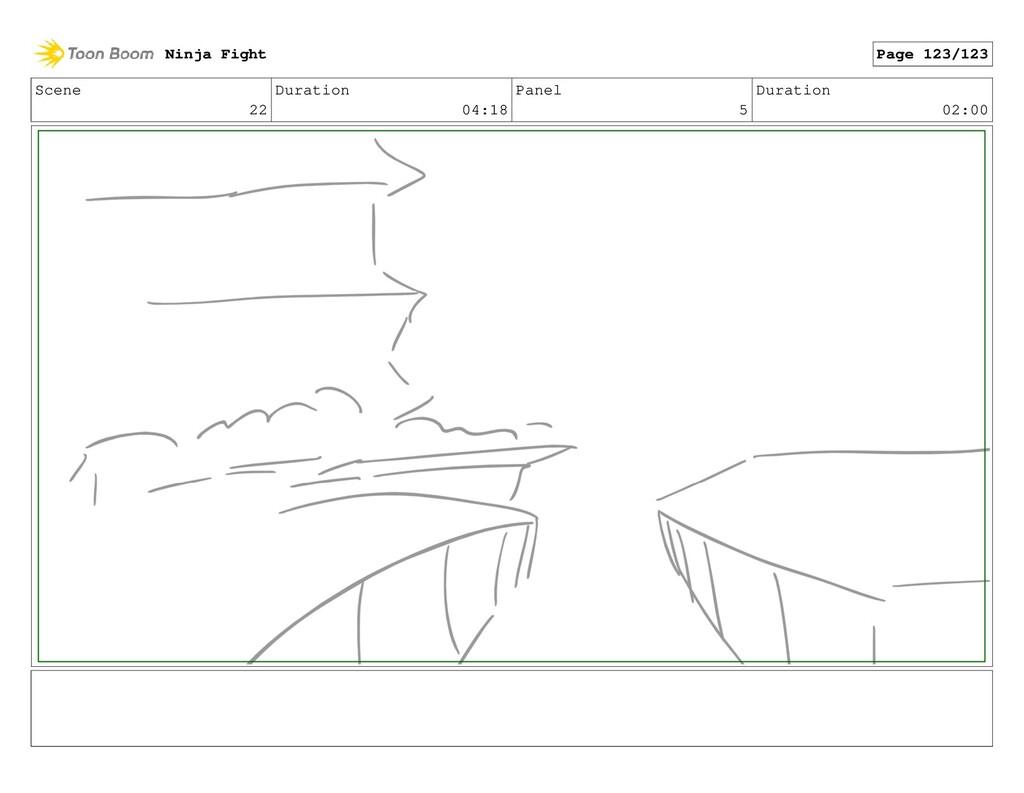 Scene 22 Duration 04:18 Panel 5 Duration 02:00 ...