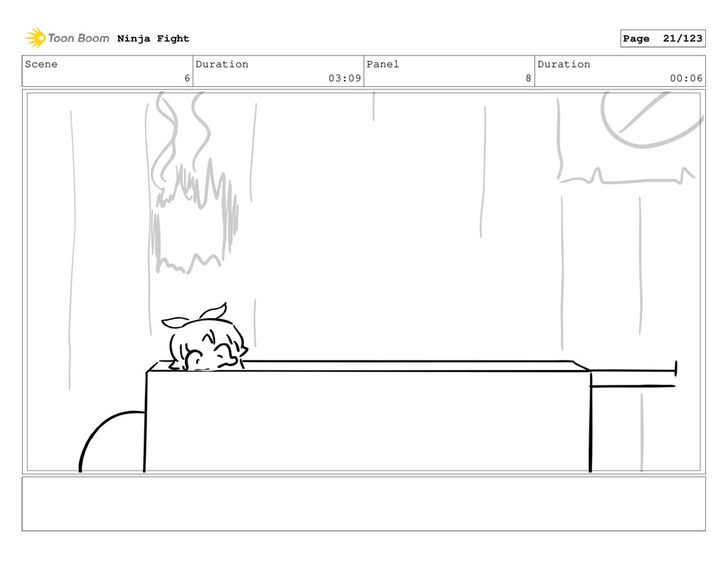 Scene 6 Duration 03:09 Panel 8 Duration 00:06 N...
