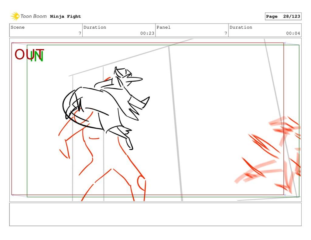 Scene 7 Duration 00:23 Panel 7 Duration 00:04 N...