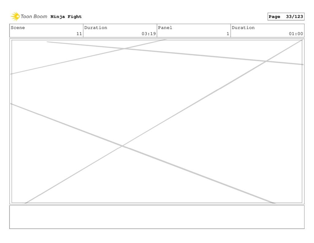 Scene 11 Duration 03:19 Panel 1 Duration 01:00 ...