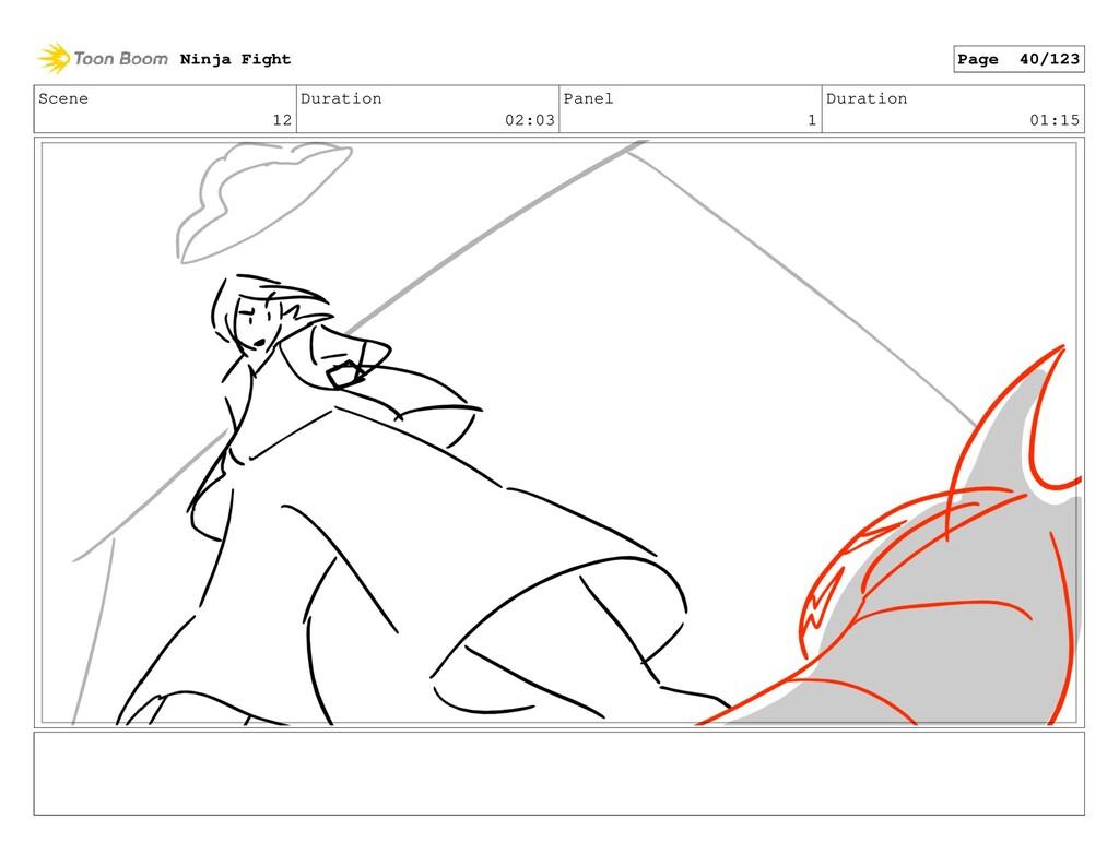 Scene 12 Duration 02:03 Panel 1 Duration 01:15 ...