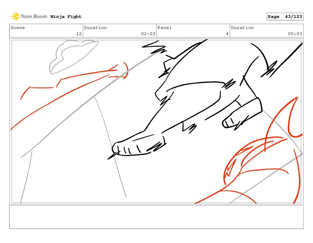 Scene 12 Duration 02:03 Panel 4 Duration 00:03 ...