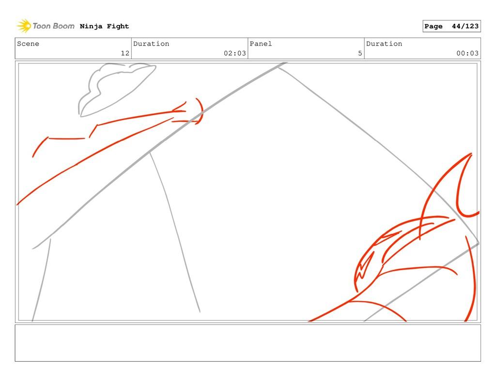 Scene 12 Duration 02:03 Panel 5 Duration 00:03 ...