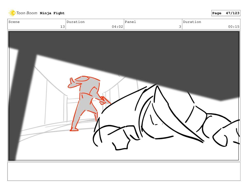 Scene 13 Duration 04:02 Panel 3 Duration 00:15 ...