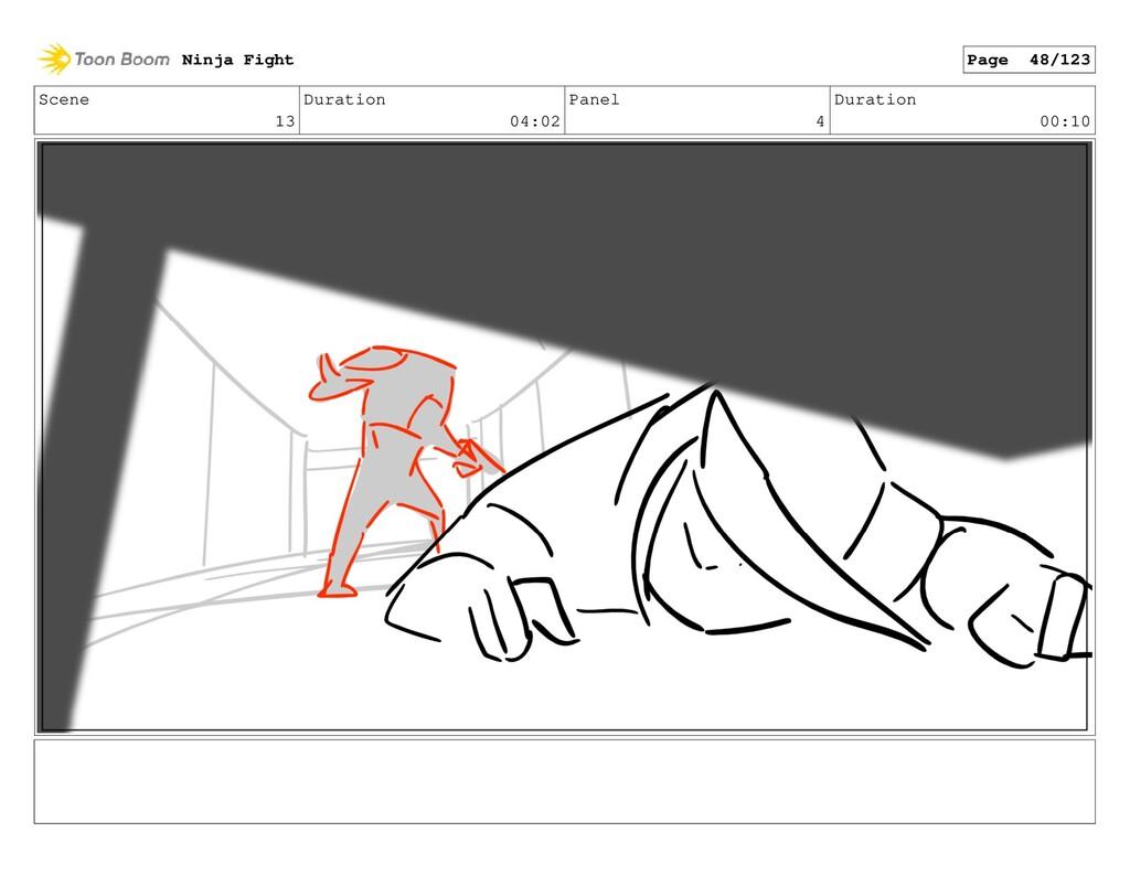 Scene 13 Duration 04:02 Panel 4 Duration 00:10 ...