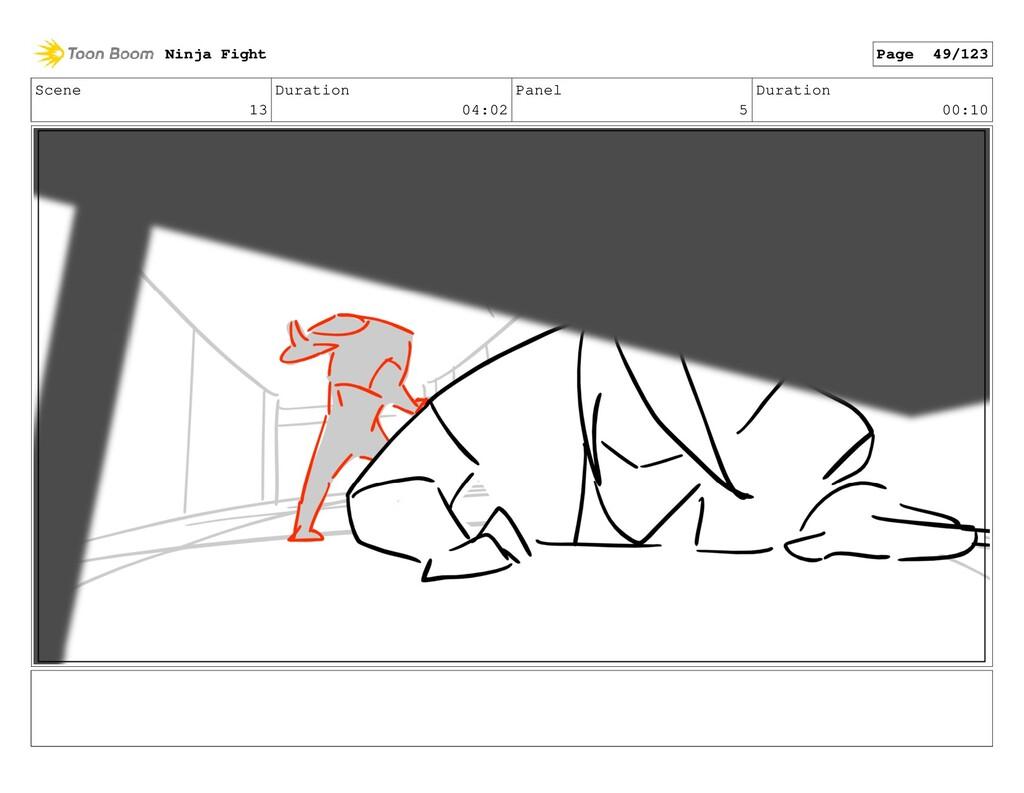 Scene 13 Duration 04:02 Panel 5 Duration 00:10 ...