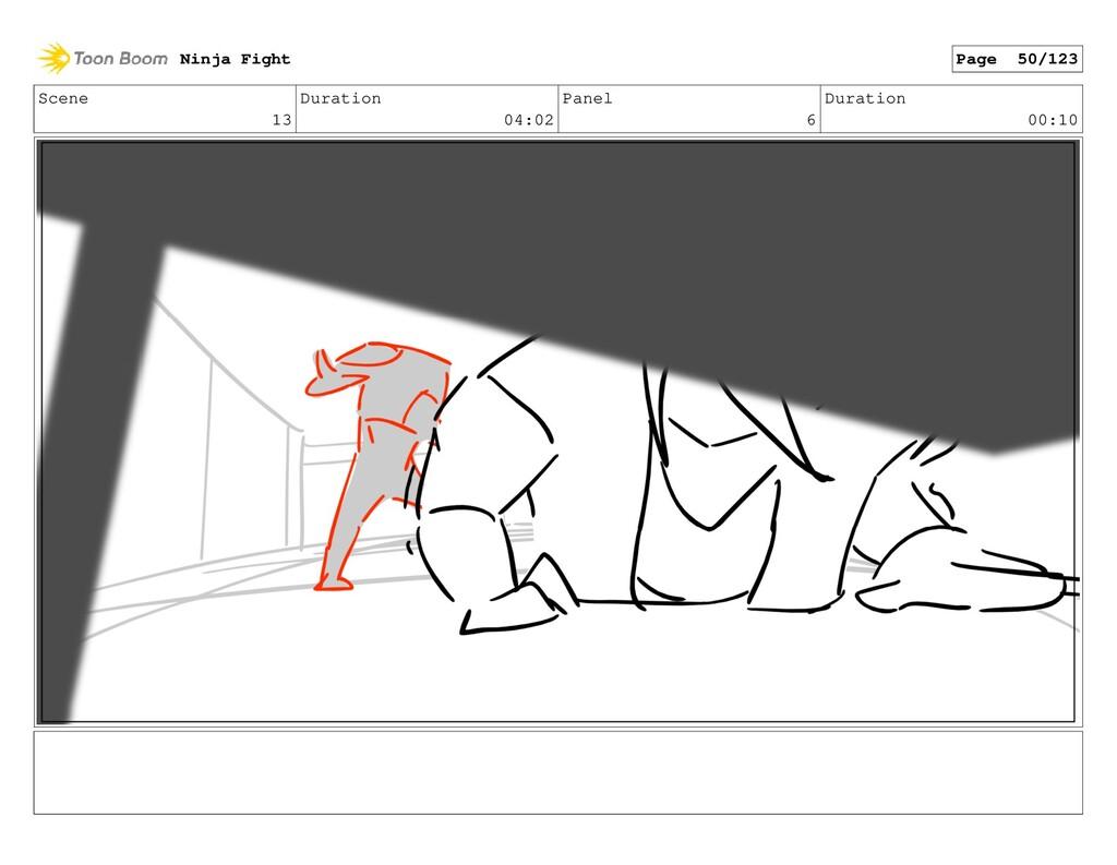 Scene 13 Duration 04:02 Panel 6 Duration 00:10 ...