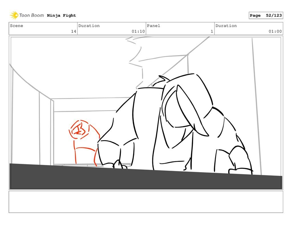 Scene 14 Duration 01:10 Panel 1 Duration 01:00 ...