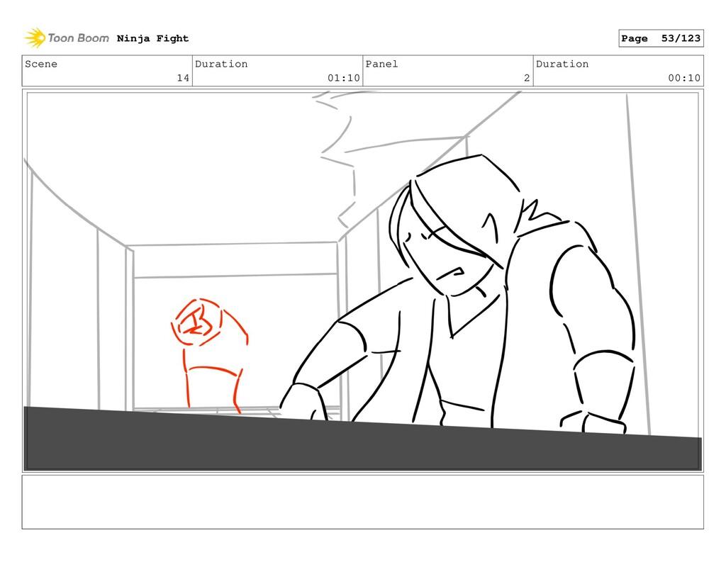 Scene 14 Duration 01:10 Panel 2 Duration 00:10 ...