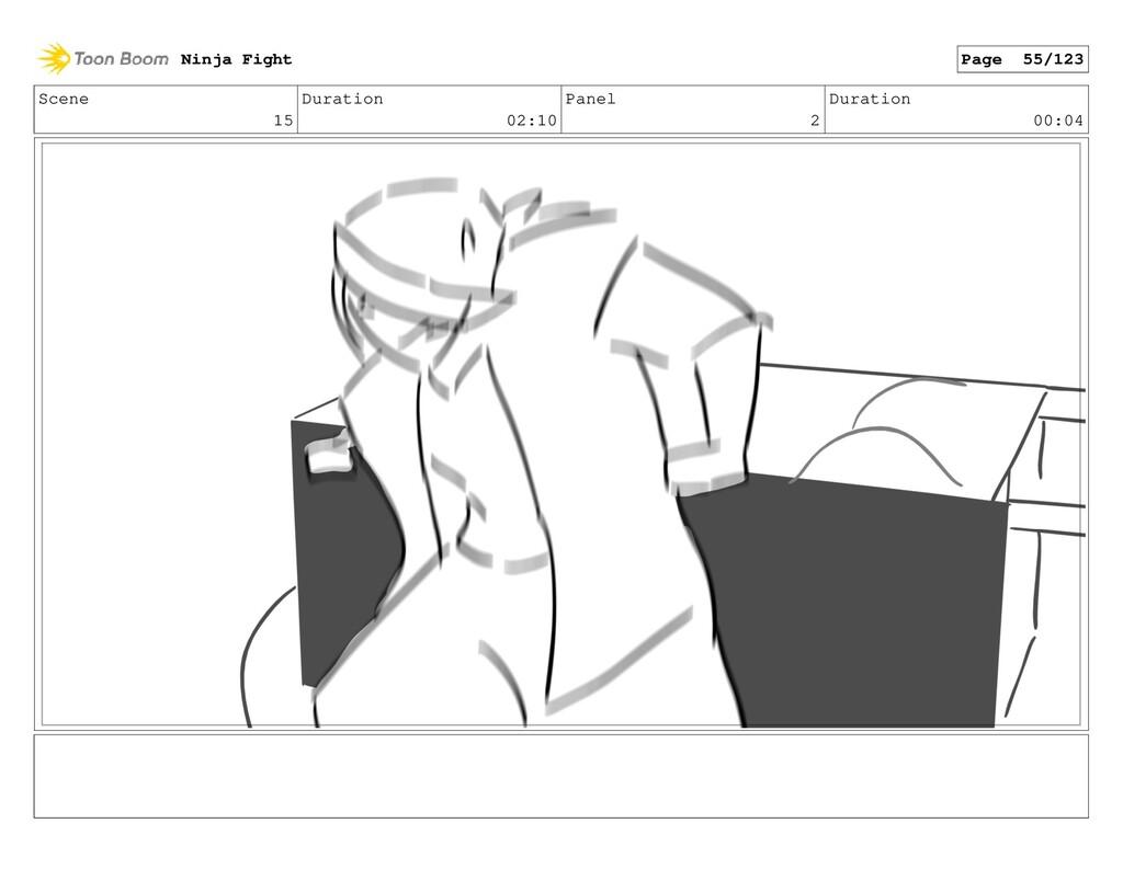 Scene 15 Duration 02:10 Panel 2 Duration 00:04 ...