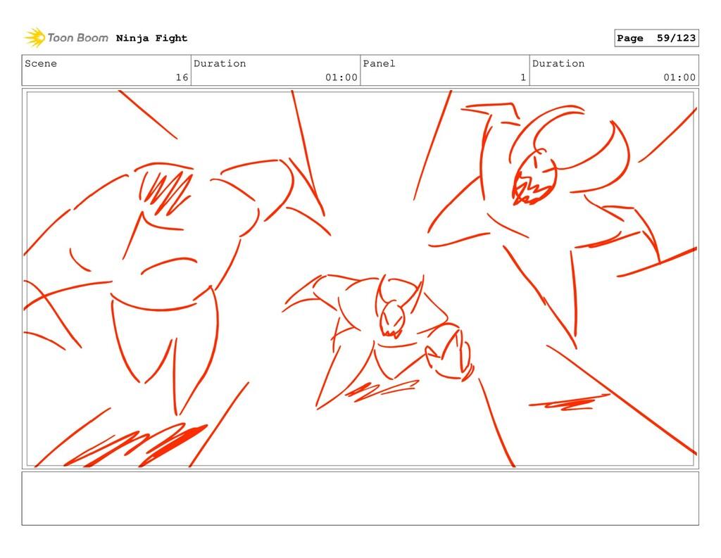 Scene 16 Duration 01:00 Panel 1 Duration 01:00 ...