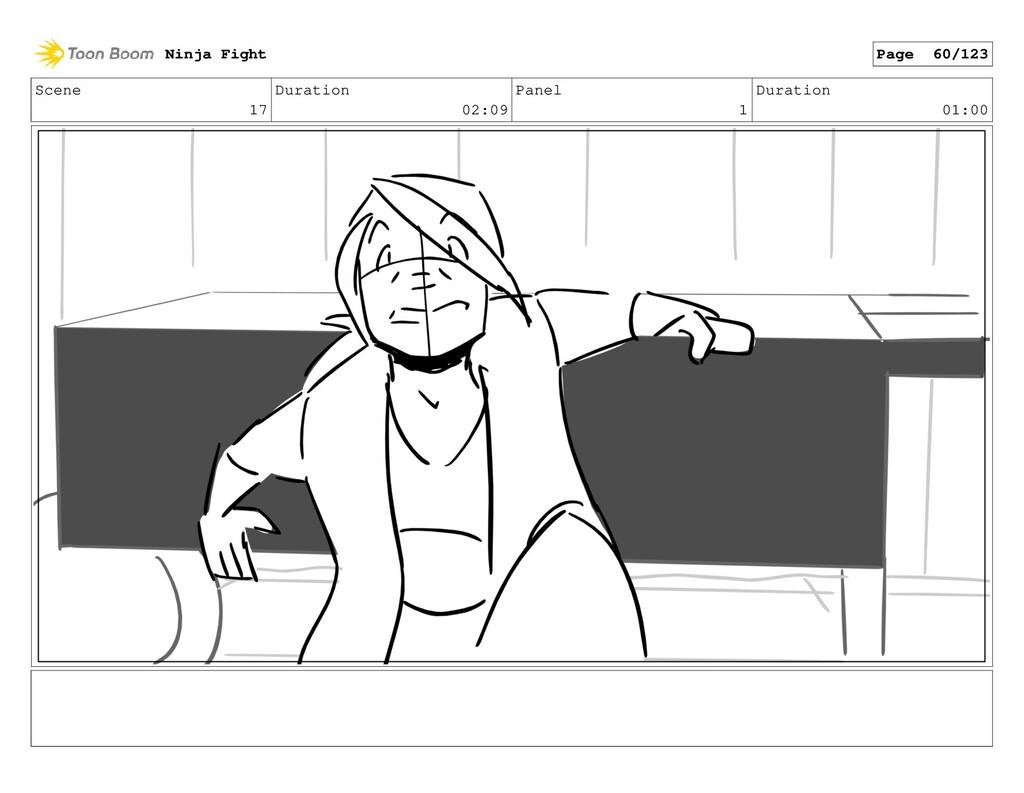 Scene 17 Duration 02:09 Panel 1 Duration 01:00 ...