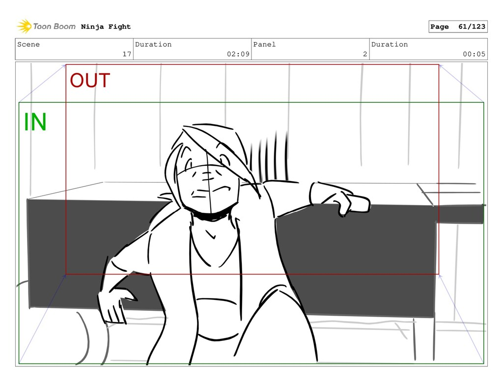 Scene 17 Duration 02:09 Panel 2 Duration 00:05 ...