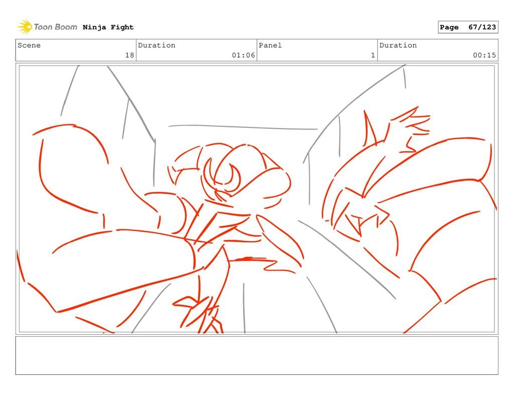 Scene 18 Duration 01:06 Panel 1 Duration 00:15 ...