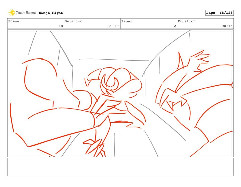 Scene 18 Duration 01:06 Panel 2 Duration 00:15 ...