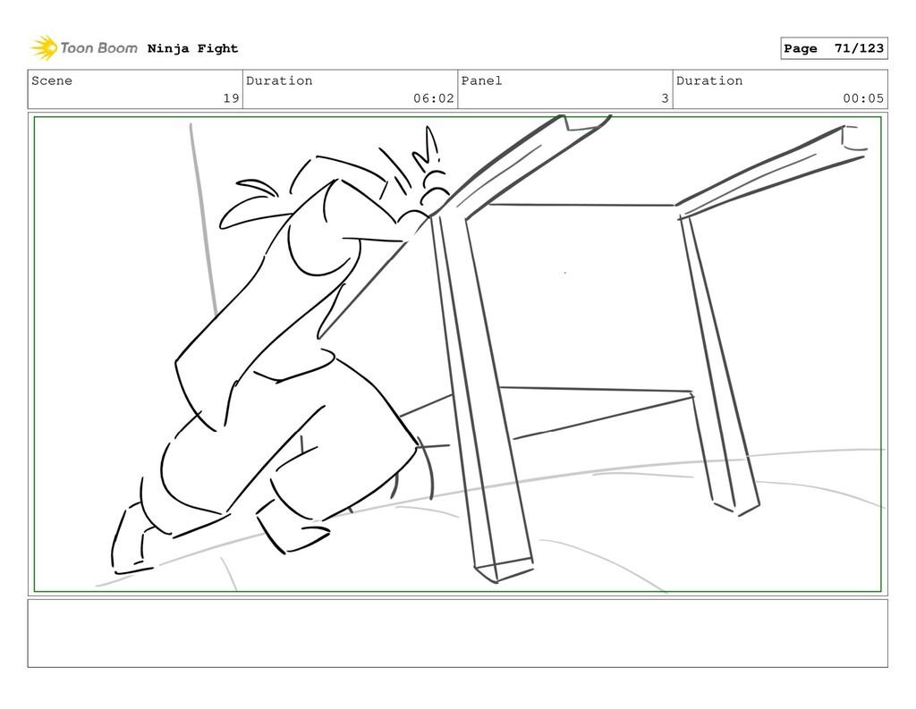 Scene 19 Duration 06:02 Panel 3 Duration 00:05 ...