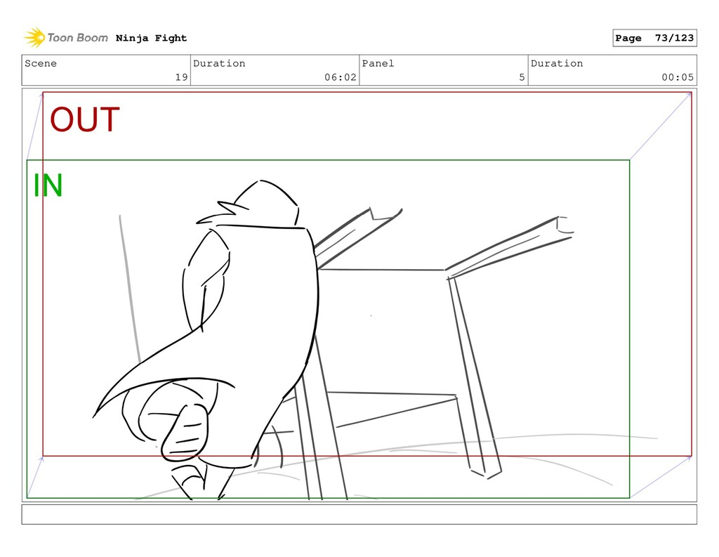 Scene 19 Duration 06:02 Panel 5 Duration 00:05 ...