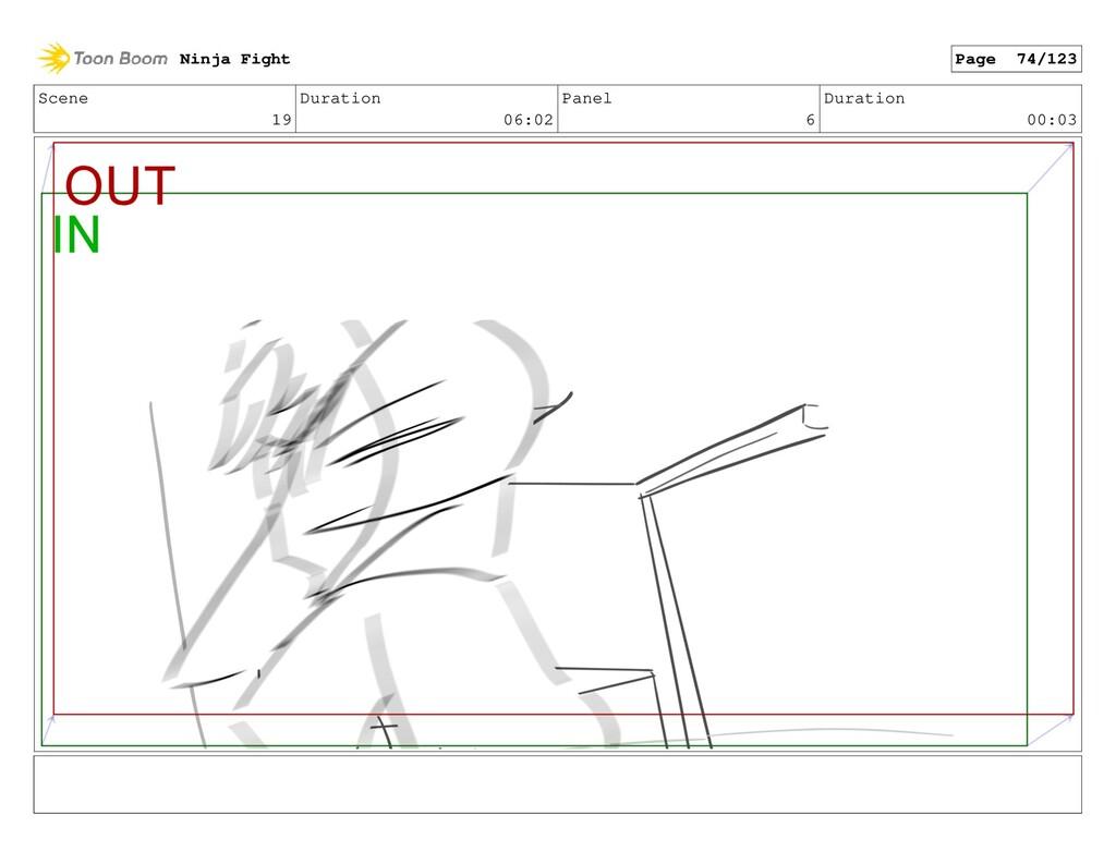 Scene 19 Duration 06:02 Panel 6 Duration 00:03 ...