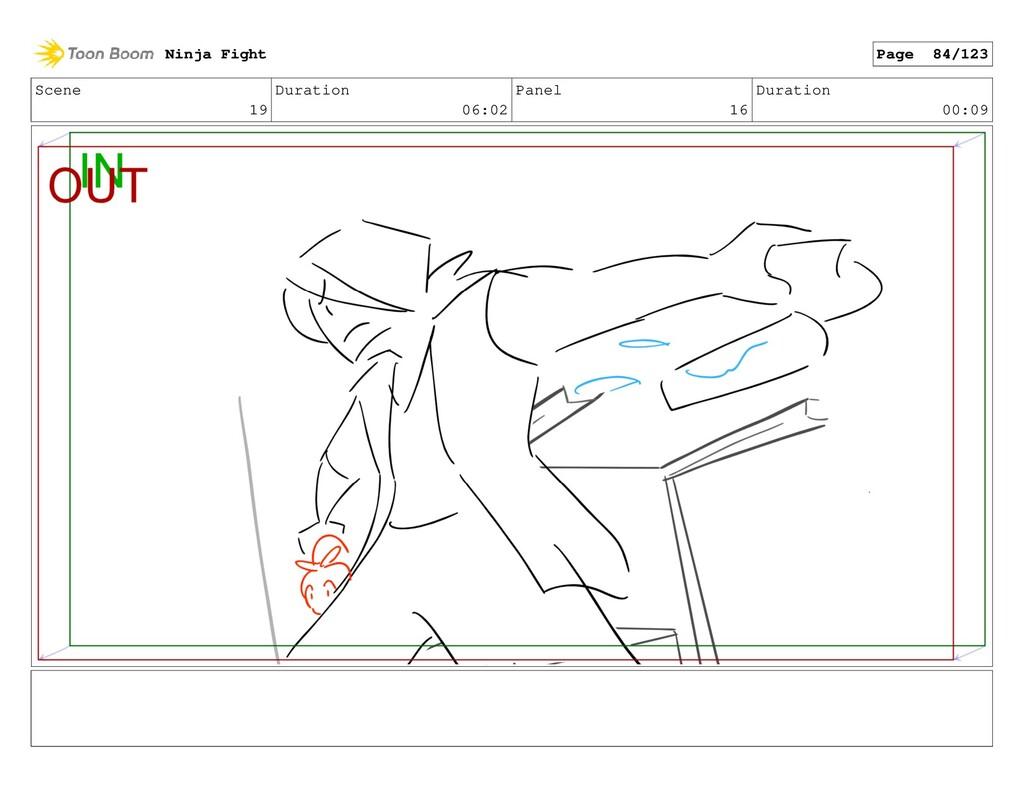 Scene 19 Duration 06:02 Panel 16 Duration 00:09...