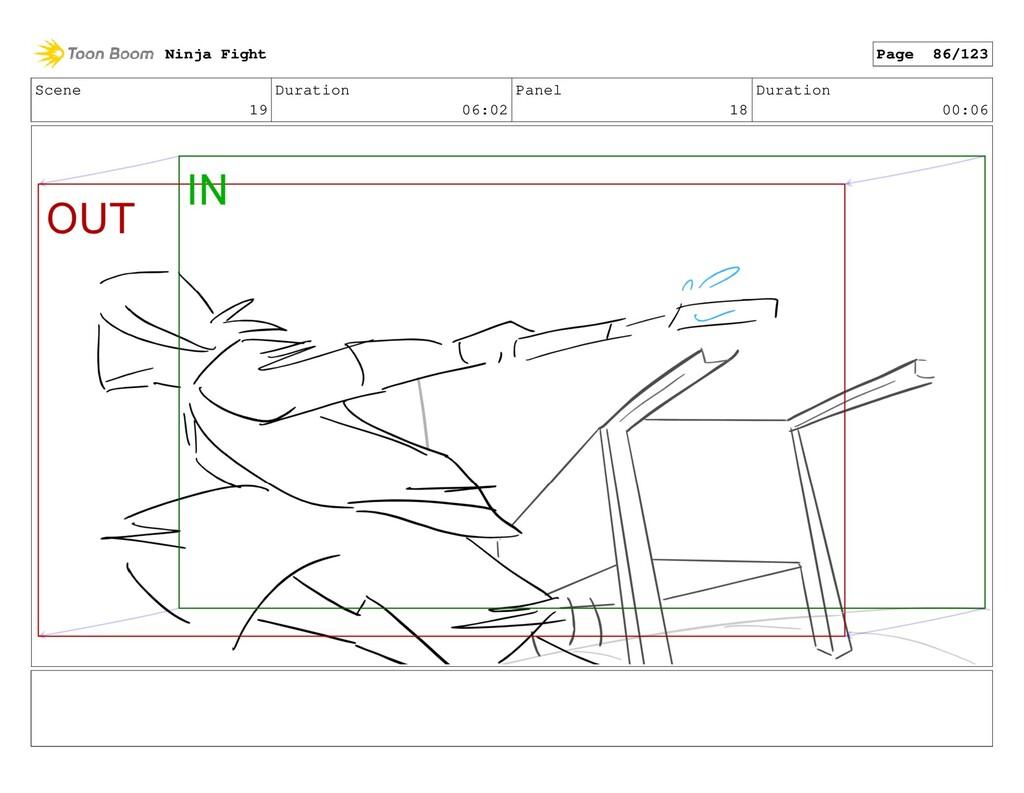Scene 19 Duration 06:02 Panel 18 Duration 00:06...