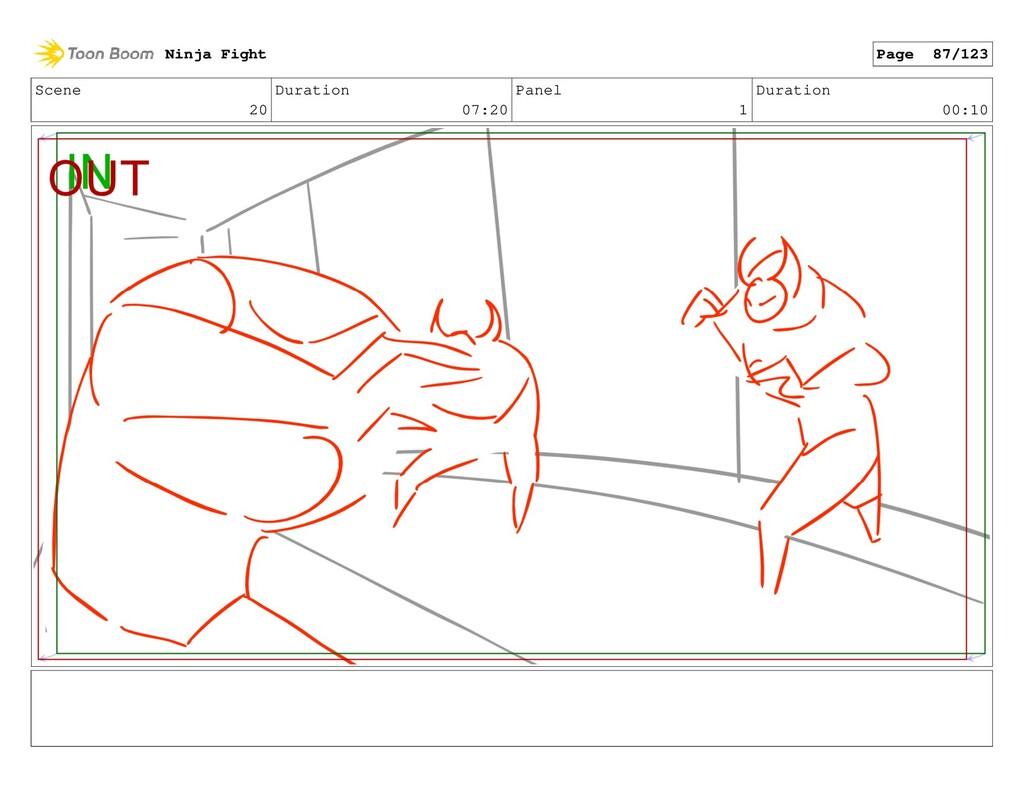 Scene 20 Duration 07:20 Panel 1 Duration 00:10 ...