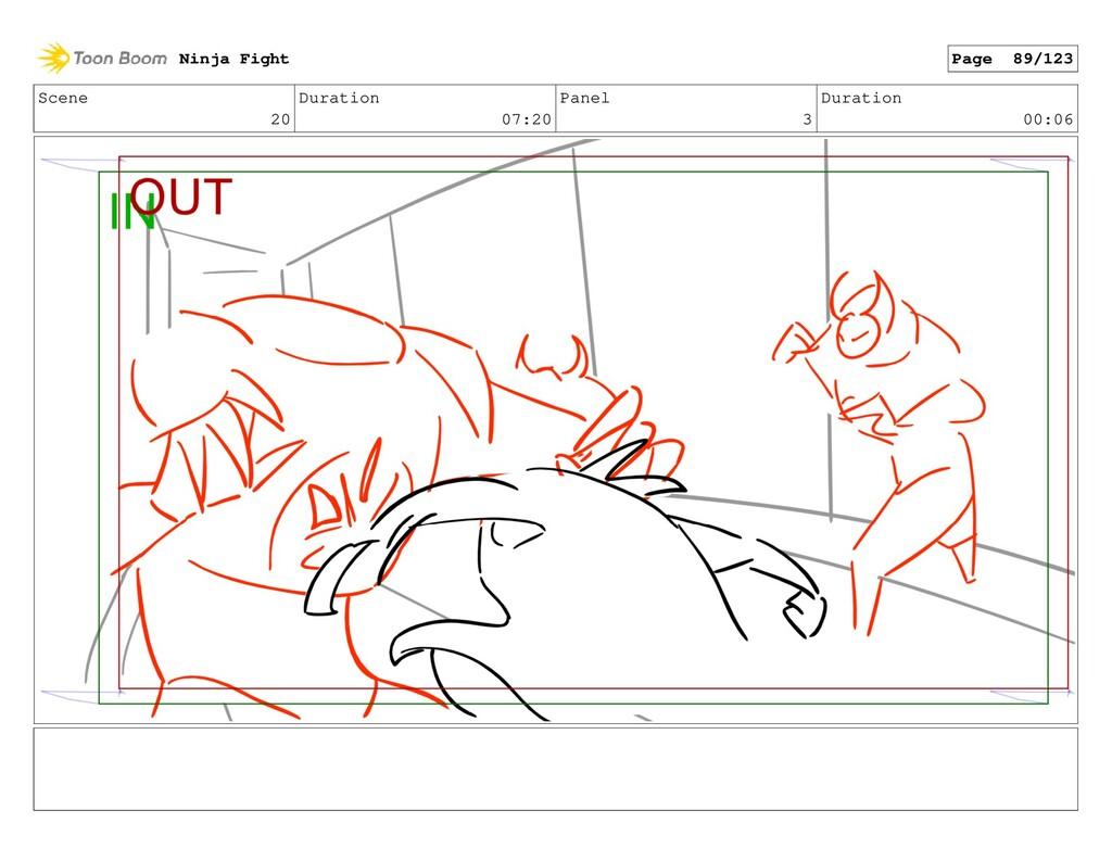 Scene 20 Duration 07:20 Panel 3 Duration 00:06 ...