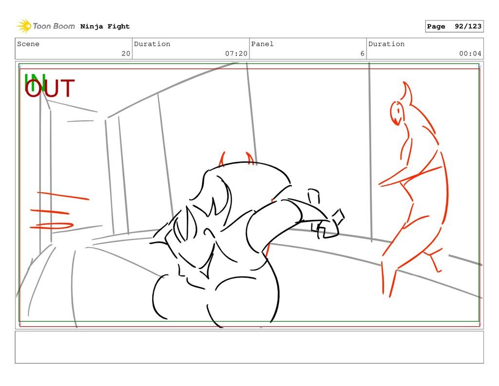 Scene 20 Duration 07:20 Panel 6 Duration 00:04 ...