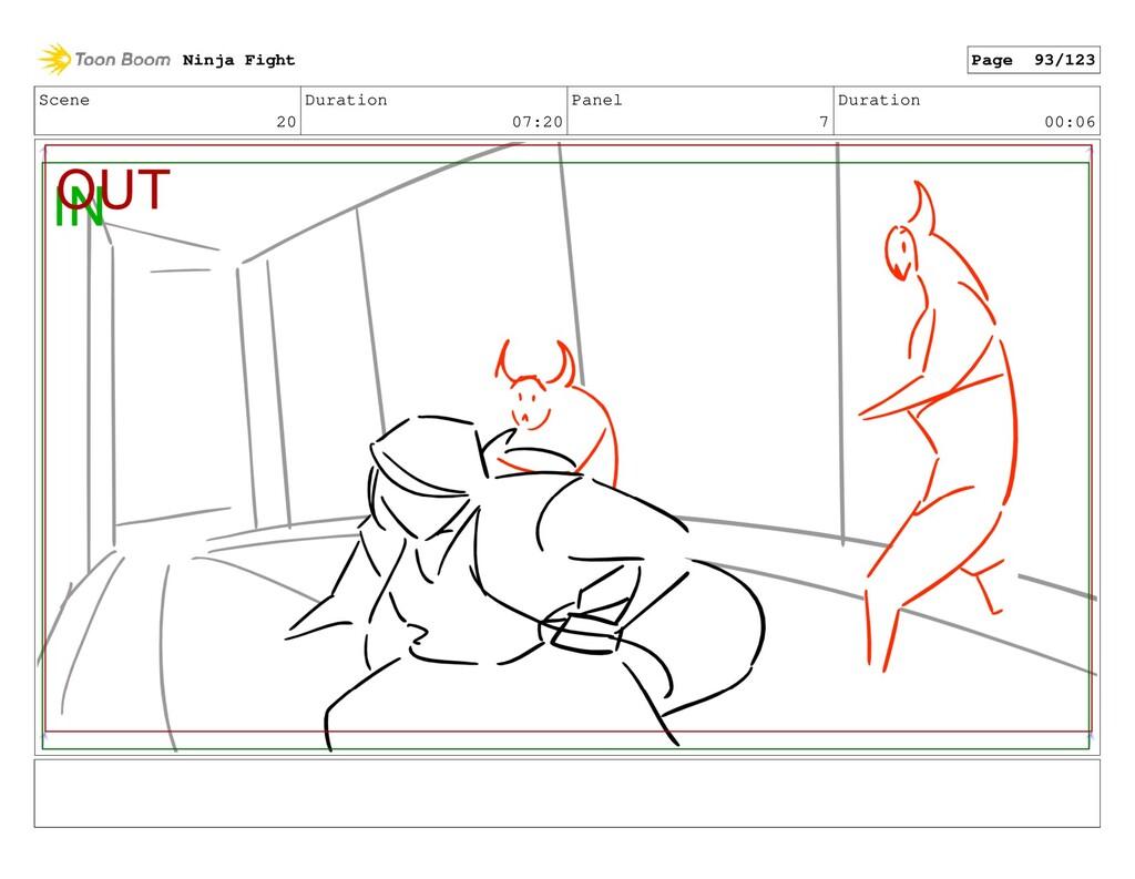 Scene 20 Duration 07:20 Panel 7 Duration 00:06 ...