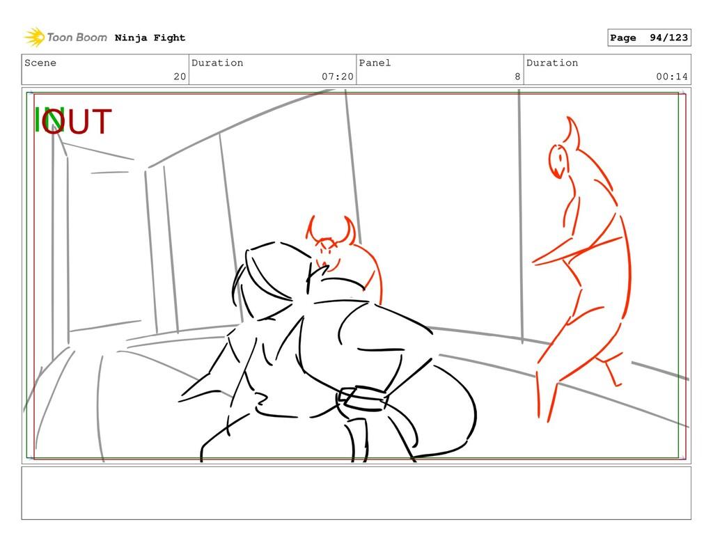 Scene 20 Duration 07:20 Panel 8 Duration 00:14 ...