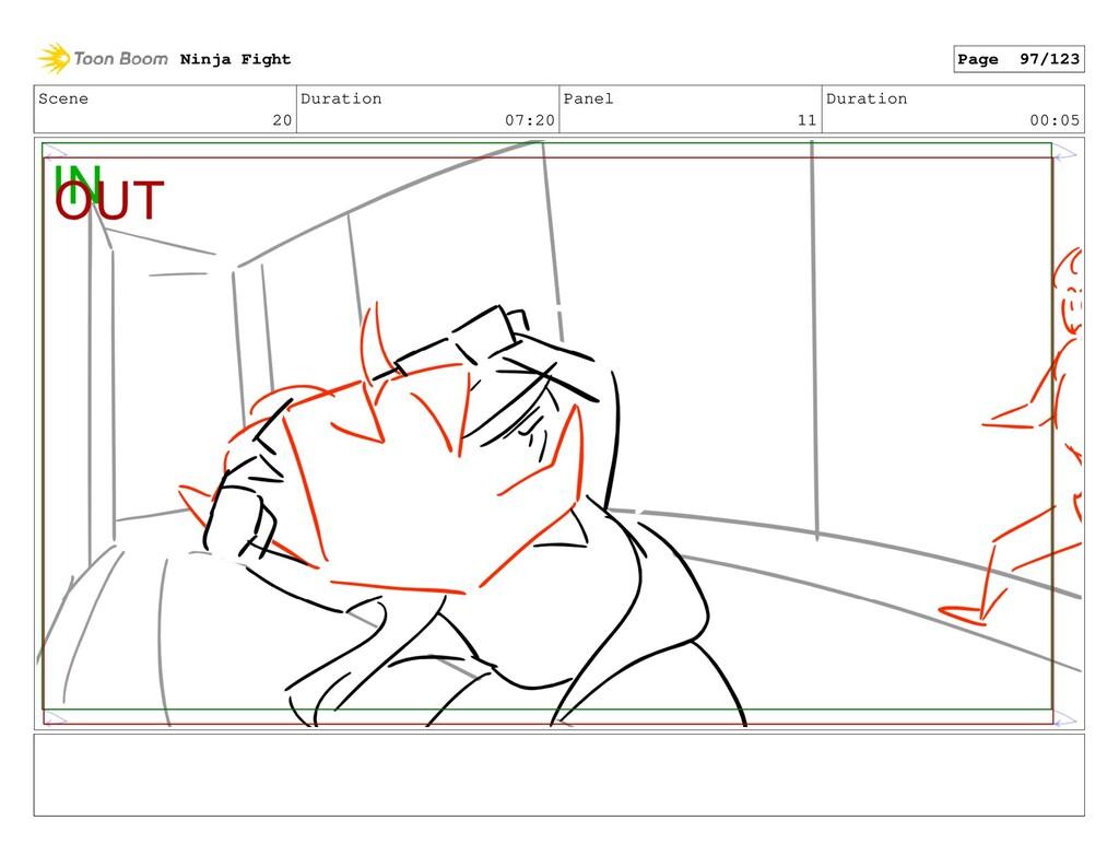 Scene 20 Duration 07:20 Panel 11 Duration 00:05...